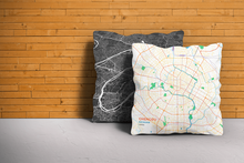 Map Throw Pillow of Chengdu Sichuan - Subtle Colorful - Chengdu Map Art