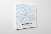 Gallery Wrapped Map Canvas of Amsterdam Noord-Holland - Modern Ski Map