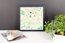 Framed Map Poster of Milano Italy - Subtle Colorful