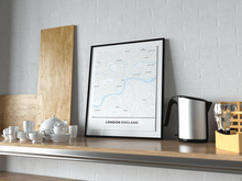Premium Map Poster of London England - Simple Ski Map - Unframed