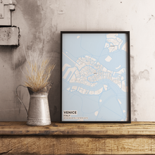 Premium Map Poster of Venice Italy - Subtle Ski Map - Unframed - Venice Map Art