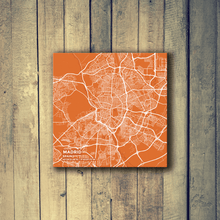 Gallery Wrapped Map Canvas of Madrid Spain - Subtle Burnt - Madrid Map Art