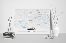 Gallery Wrapped Map Canvas of London England - Modern Ski Map