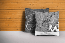 Map Throw Pillow of Tokyo Japan - Simple Contrast