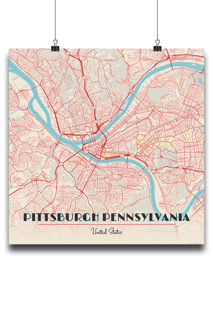 Pittsburg Map on