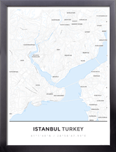 Framed Map Poster of Istanbul Turkey - Simple Ski Map