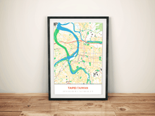 Premium Map Poster of Taipei Taiwan - Simple Colorful - Unframed