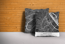 Map Throw Pillow of Vienna Austria - Simple Contrast