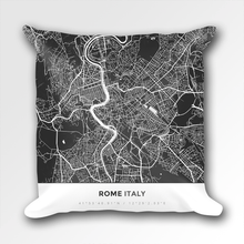 Map Throw Pillow of Rome Italy - Simple Contrast