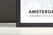 Framed Map Poster of Amsterdam Noord-Holland - Modern Ski Map