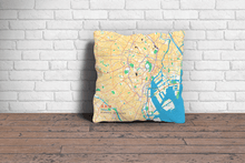 Map Throw Pillow of Tokyo Japan - Subtle Colorful