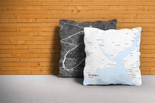 Map Throw Pillow of Istanbul Turkey - Subtle Ski Map