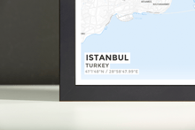 Framed Map Poster of Istanbul Turkey - Subtle Ski Map