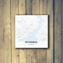 Gallery Wrapped Map Canvas of Istanbul Turkey - Modern Ski Map