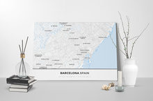 Gallery Wrapped Map Canvas of Barcelona Spain - Simple Ski Map