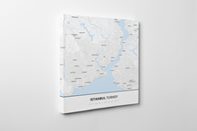 Gallery Wrapped Map Canvas of Istanbul Turkey - Simple Ski Map