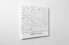 Gallery Wrapped Map Canvas of Seoul South Korea - Simple Ski Map