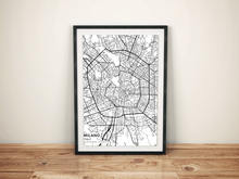 Premium Map Poster of Milano Italy - Subtle Black Ink - Unframed