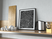 Premium Map Poster of Chengdu Sichuan - Subtle Contrast - Unframed - Chengdu Map Art