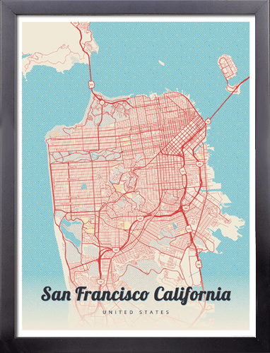 Framed Map Posters Tagged San Francisco MapPrints
