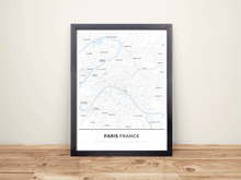 Framed Map Poster of Paris France - Simple Ski Map