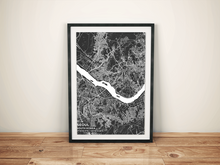 Premium Map Poster of Seoul South Korea - Subtle Contrast - Unframed