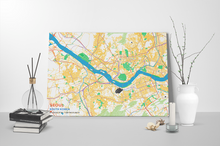 Gallery Wrapped Map Canvas of Seoul South Korea - Subtle Colorful