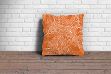 Map Throw Pillow of Rome Italy - Subtle Burnt