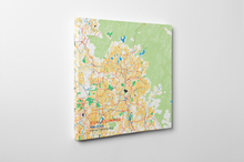 Gallery Wrapped Map Canvas of Kuala Lumpur Malaysia - Subtle Colorful