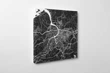 Gallery Wrapped Map Canvas of Taipei Taiwan - Subtle Contrast