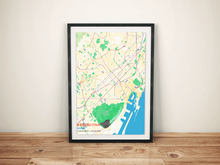 Premium Map Poster of Barcelona Spain - Subtle Colorful - Unframed