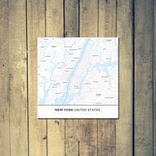 Gallery Wrapped Map Canvas of New York United States - Simple Ski Map