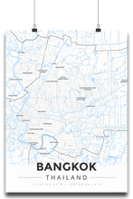 Premium Map Poster of Bangkok Thailand - Modern Ski Map - Unframed