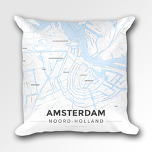 Map Throw Pillow of Amsterdam Noord-Holland - Modern Ski Map