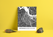 Premium Map Poster of Amsterdam Noord-Holland - Simple Contrast - Unframed