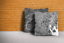Map Throw Pillow of Tokyo Japan - Subtle Contrast
