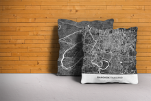 Map Throw Pillow of Bangkok Thailand - Simple Contrast