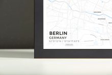 Framed Map Poster of Berlin Germany - Subtle Ski Map - Berlin Map Art