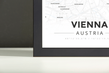 Framed Map Poster of Vienna Austria - Modern Ski Map