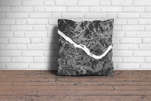 Map Throw Pillow of Seoul South Korea - Subtle Contrast