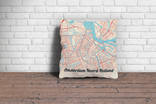 Map Throw Pillow of Amsterdam Noord-Holland - Lobster Retro - Amsterdam Map Art