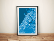 Premium Map Poster of Dubai United Arab Emirates - Subtle Blue Contrast - Unframed