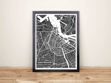 Framed Map Poster of Amsterdam Noord-Holland - Subtle Contrast
