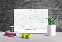 Gallery Wrapped Map Canvas of London England - Simple Ski Map