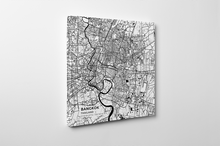 Gallery Wrapped Map Canvas of Bangkok Thailand - Subtle Black Ink
