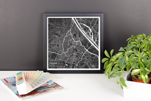 Framed Map Poster of Vienna Austria - Subtle Contrast