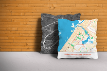 Map Throw Pillow of Dubai United Arab Emirates - Simple Colorful