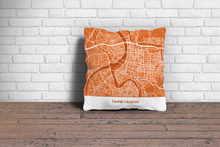 Map Throw Pillow of Taipei Taiwan - Simple Burnt