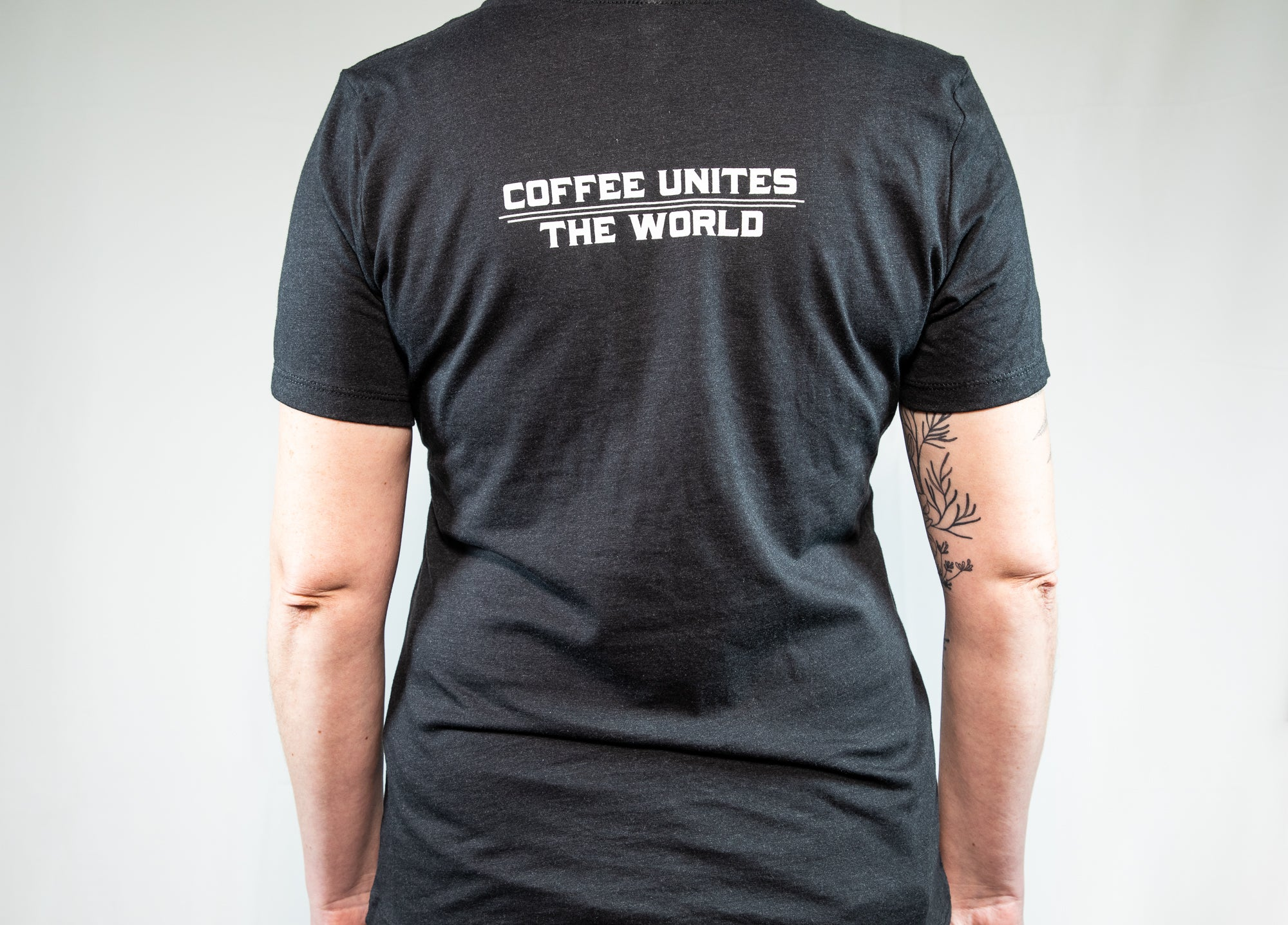 Carrboro Coffee Roasters Heather Black Fitted T-Shirt