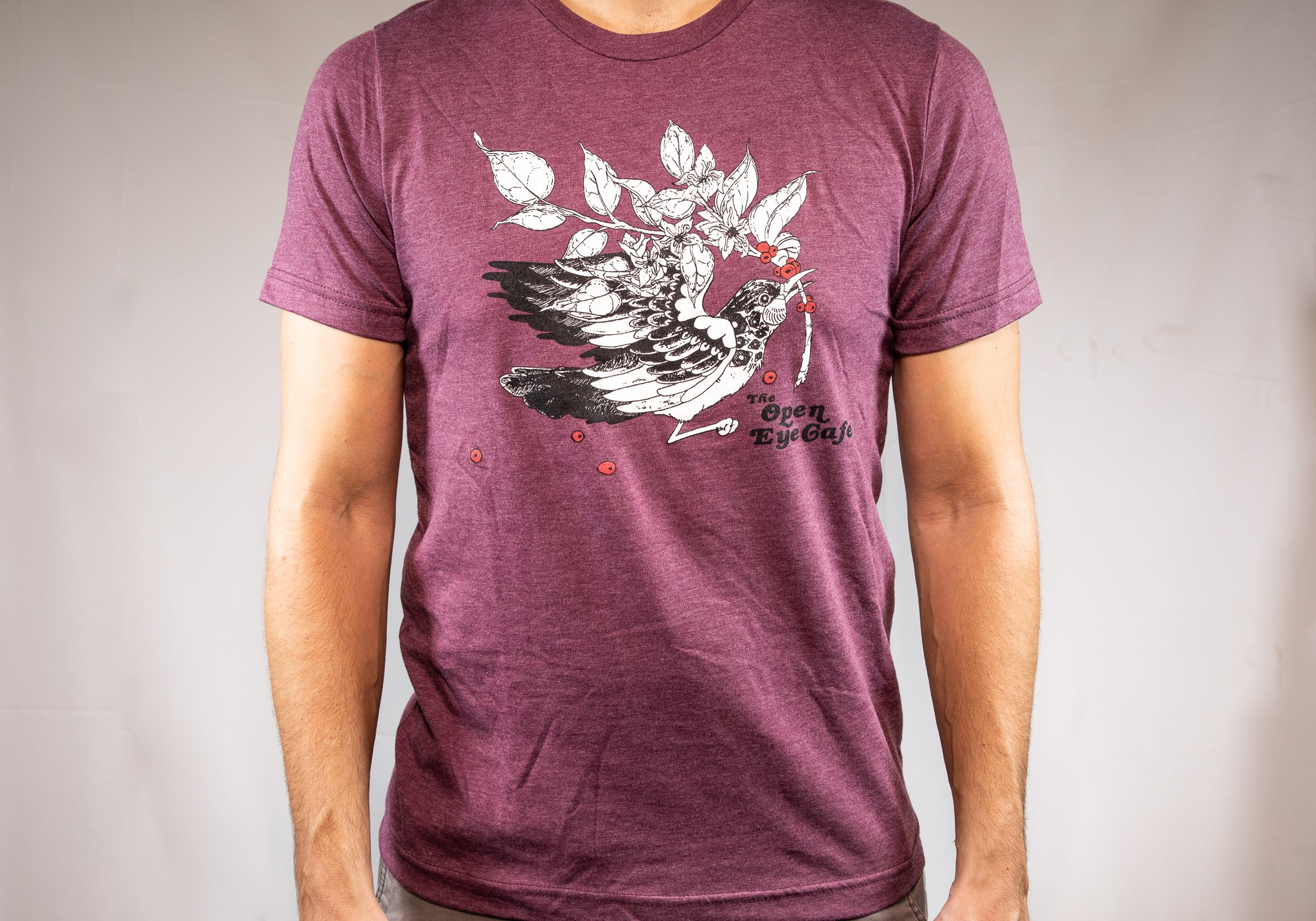 Open Eye Heather Maroon Unisex T-Shirt